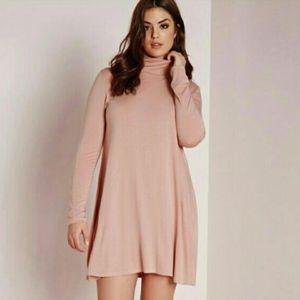 Missguided Pink Swing Dress, Sz 14